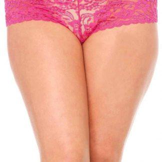 Leg AvenuePlus Size Stretch Lace Tanga