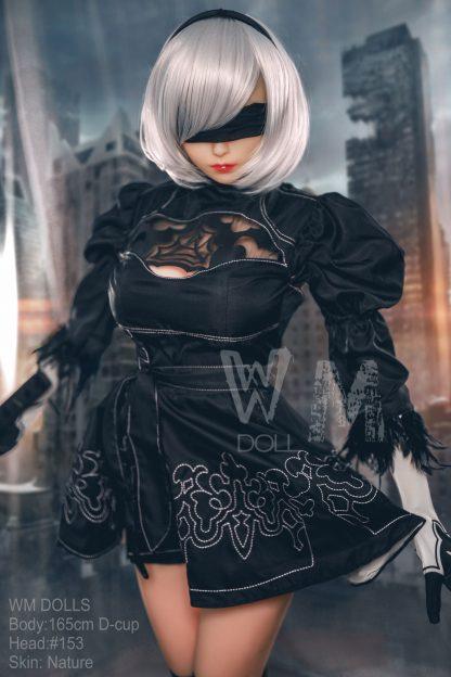 2B Nier Automata Cosplay Sex Doll WM Doll 165cm D Cup with Head #153